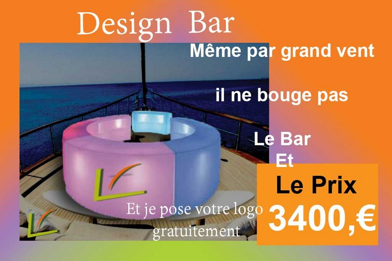 bar led pour grand bateau yacht lux, Bar Led